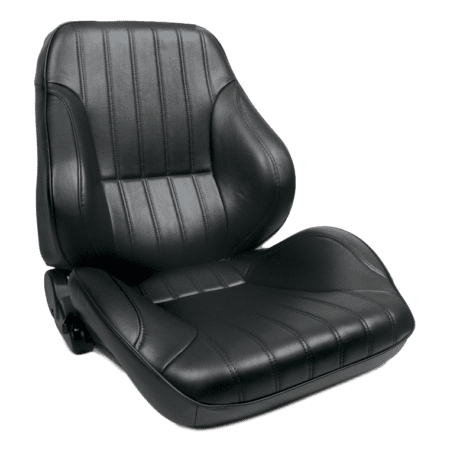 Rally Lowback Black Leather