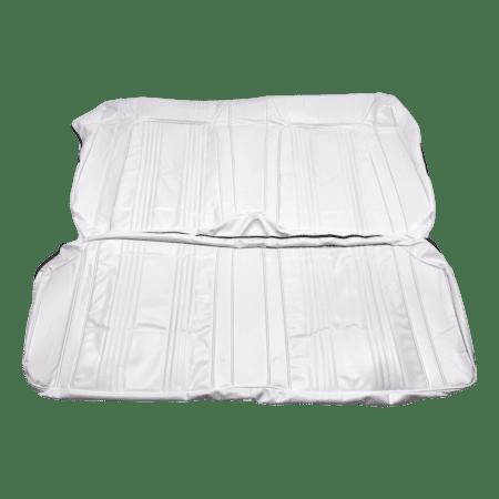 67-69 Chevy Camaro Pro-90® Style Rear Seat Cover | White Vinyl