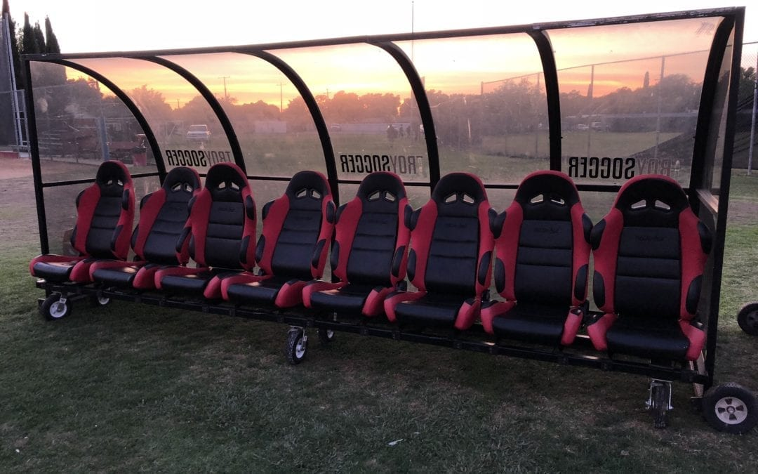 Procar Seats Used for Girl's Soccer Team Bench