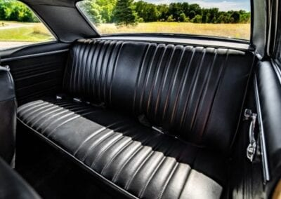 leather backseat of 1967 Chevy Chevelle